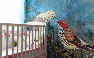 Обои с птичками для стен