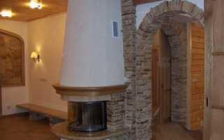 Декор арки камнем