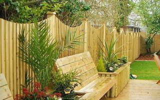 Забор из дерева фото для дома