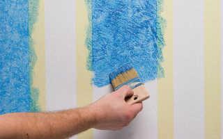 Чем покрасить обои на стене