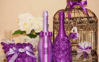 Декор бутылок красками