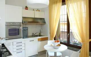 Дизайн занавесок на кухню современный