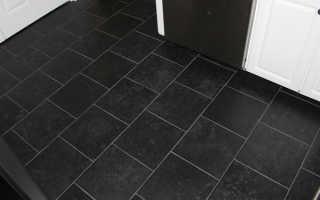 Напольная плитка черного цвета