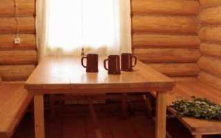Банная мебель из дерева