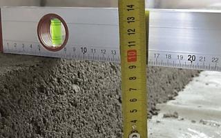 Минимальная толщина бетонной стяжки