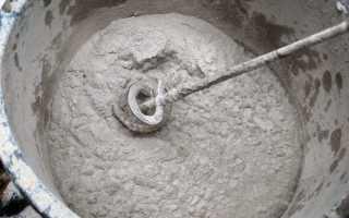 Расход цементной стяжки на 1м2