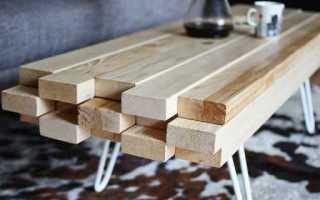 Обеденный стол своими руками из дерева фото