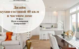 Дизайн кухни 40 метров