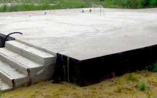Монолитная железобетонная плита фундамента
