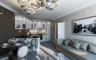 Интерьер квартиры в сером стиле