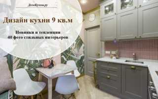 Дизайн кухни 9 метров фото современные