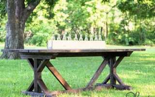 Стол для беседки из дерева фото