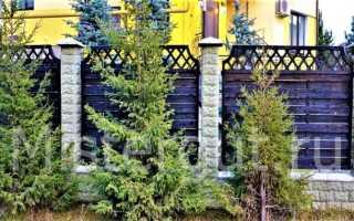 Плетеный забор из дерева
