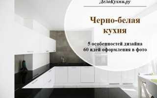 Дизайн кухни бело черного цвета фото