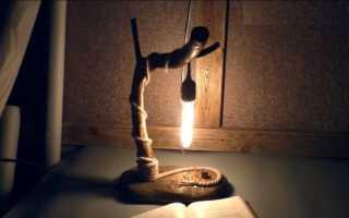 Оригинальные светильники из дерева своими руками