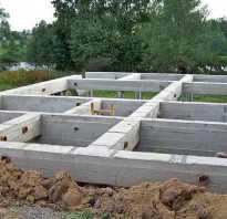 Фундамент на бетонных блоках