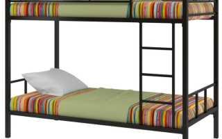 Двухэтажная кровать из дерева