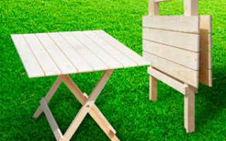 Раскладной столик из дерева