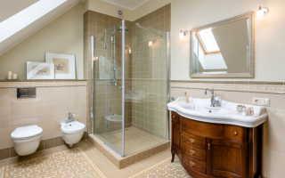 Ванная комната с душевым поддоном дизайн