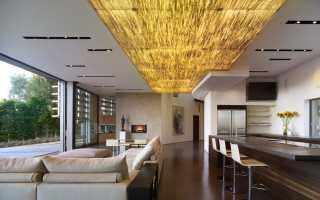 Подвесной потолок из дерева