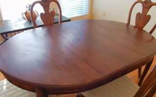 Реставрация стола из дерева своими руками
