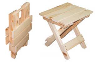 Размеры складного стула из дерева
