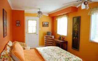 Обои оранжевые для стен