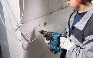 Штробление бетона под проводку