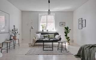 Интерьер однокомнатной квартиры в скандинавском стиле