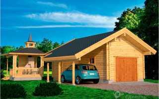 Проекты гаражей из дерева