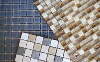 Как приклеить мозаичную плитку