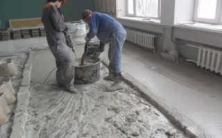 Пропорции бетона для пола