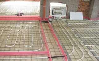 Устройство теплого пола водяного на бетонном основании