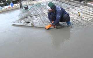 Заливка бетона в квартире