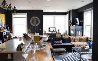 Черный цвет в дизайне интерьера