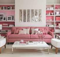 Интерьер в розовом стиле