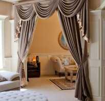 Классический стиль в интерьере шторы