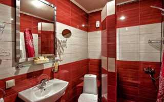 Ванная в красном цвете фото дизайн